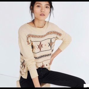 NWOT Madewell Aztec Embroidered Sweater